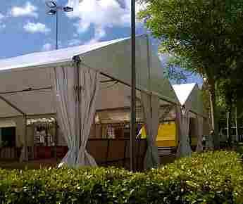 Double portal tent