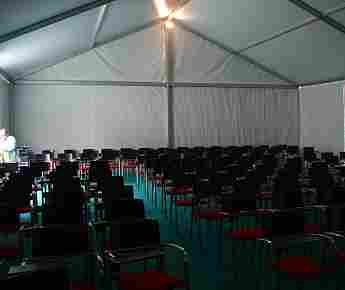 Rectangular opaque tent