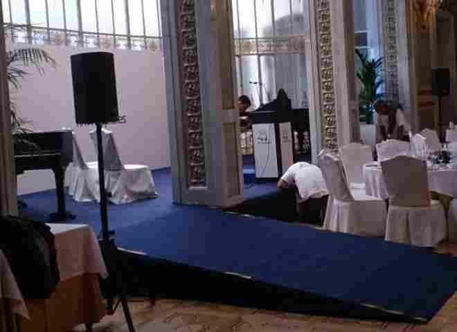 Escenario con rampa Casino de Madrid